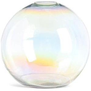 Kugelvase irisierend, Glas, D:25cm x H:22cm, klar