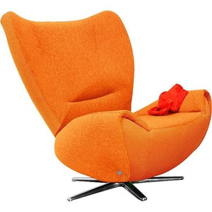 TOM TAILOR Loungesessel »TOM«, mit Metall-Drehfuß, orange, Struktur fein TBO