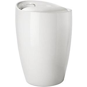 Hocker mit integriertem Wäschesammler, weiß, Gr. onesize,  home