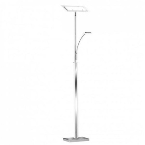 Wofi LED Standleuchte BAXTER, 3-flammig, 13 W, 2700lm, Warmweiß, Silber WOFI_313306 - WOFI LEUCHTEN