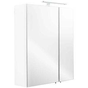 Spiegelschrank 60x68x16cm mit LED Leuchte weiß matt