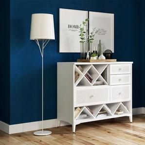 Home affaire Kommode »Orla« in weiß oder mit dezentem Print auf den Schubladen, Breite 99 cm