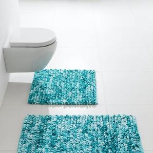 Badteppich, blau, Gr. 60/90 cm, Kleine Wolke, Material: Polyester