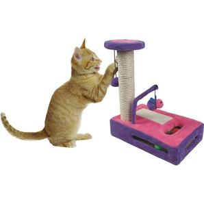 Heim Katzen-Kratzspiel Plüsch  34 cm x 22 cm x 40 cm