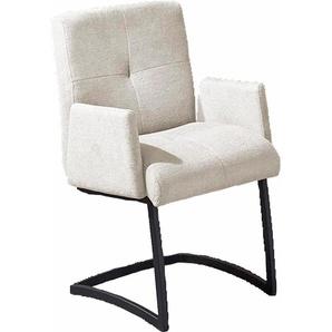 exxpo - sofa fashion Freischwinger, weiß, Struktur