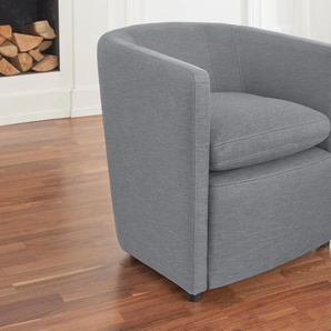 Alte Gerberei Sessel »Hens«, silber, B/H/T: 62x44x45cm, hoher Sitzkomfort