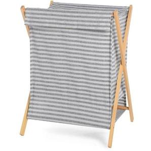 Wäschekorb Stripe, 40x32x55cm, grau