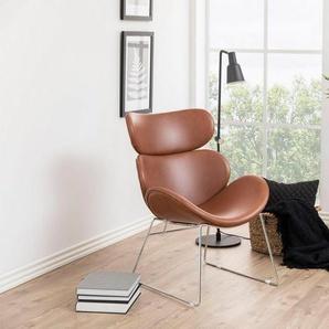 andas Sessel »Chiara« in edlem skandinavischem Design mit Gestell aus Metall, silber