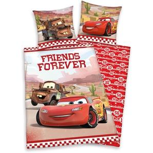 Disney Bettwäsche »Cars«, 80x80 cm, hautfreundlich & trocknergeeignet, aus reiner Baumwolle, rot