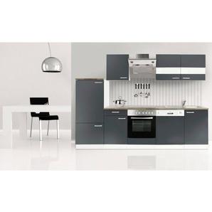Respekta Küchenzeile mit E-Geräten »Economy«, Breite 280 cm