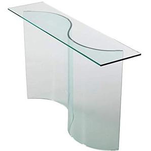 Qriosa Stil Italienisch Mod. Esse Konsolentisch aus gebogenem Glas