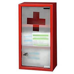 Zeller Medizinschrank ohne Füllung rot