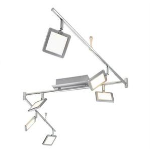 casaNOVA LED Deckenlampe 6 flg PAD Nickelfarbig
