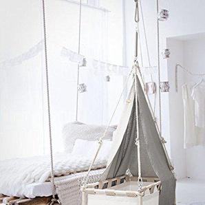 Babyhome Canopy Extender WiegeSo rund walnuss