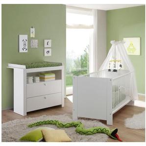 JUSTyou Olinda Kinderzimmer-Set Kinderzimmermöbel Komplett Weiß