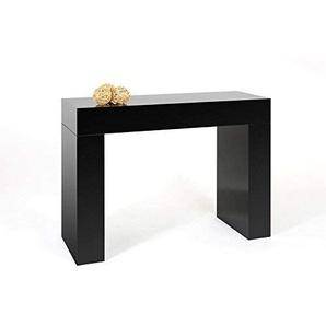 Mobili Fiver Evolution Spielekonsole Eingang, Holz, Schwarz glänzend, 110x 40x 80cm
