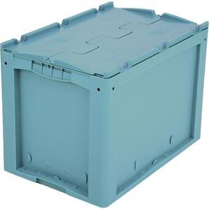BITO-Lagertechnik Kleinladungsträger KLTD mit Deckel / KLTD64420 600x400x420 türkis Deckel