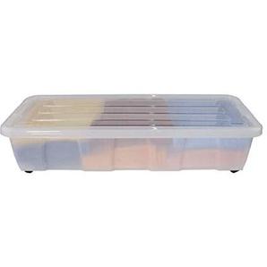Bettbox, Bettkasten EASY, Kunststoff, transparent, 80x18x40 cm