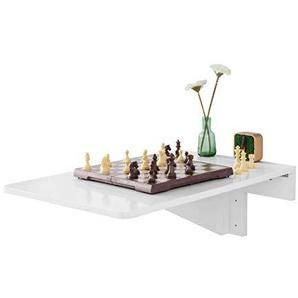 SoBuy FWT04-W Wandklapptisch Küchentisch Wandtisch Esstisch Schreibtisch Weiß 70x45cm