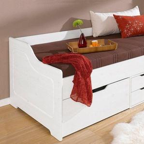 Home affaire Funktionsbett »Anders«, aus schönem massivem Kiefernholz, in zwei verschiedenen Farbvarianten, weiß