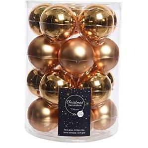 20 Christbaumkugeln Glas 60mm (messinggold kupfergold Gold) Weihnachtskugeln Baumschmuck Weihnachtsdeko Kugeln Deko