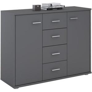 Sideboard JAMIE 2 Türen, 4 Schubladen in grau