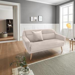 Andas 2 Sitzer »Bille«, beige, B/H/T: 167x45x58cm, hoher Sitzkomfort