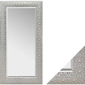 Holzrahmenspiegel SCARLETT Weiß/Silber ca. 75 x 150 cm