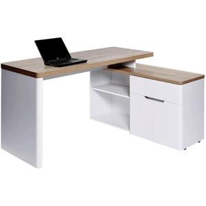 : Tisch, Weiß, Eiche, B/H/T 140 77 117,5