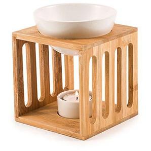 Pajoma Bambus/Keramik Duftlampe Wellness Gr. L, L 11,7 x B 11,7 x H 12 cm