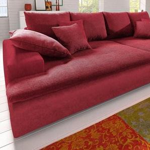 Big-Sofa, wahlweise in 2 Größen, rot, Microfaser PRIMABELLE® / Struktur