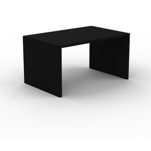 Bürotisch Massivholz Schwarz - Moderner Massivholz-Bürotisch: Einzigartiges Design - 140 x 75 x 90 cm, konfigurierbar