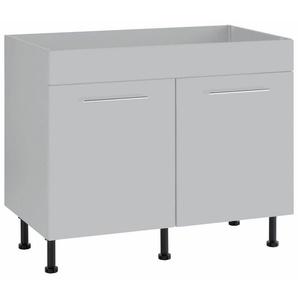wiho Küchen Spülenschrank »Ela« Breite 100 cm, grau