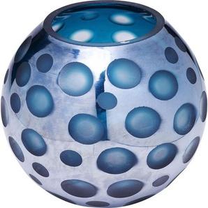 Vase blau Dots 17cm