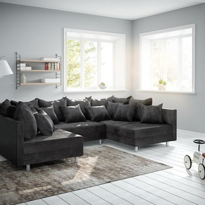 Wohnlandschaft Clovis Anthrazit Antik Optik Modulsofa, Design Wohnlandschaften, Couch Loft, Modulsofa, modular