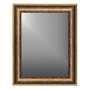 Rahmenspiegel FARO Massivholz Gold ca. 69 x 54 x 3,2 cm