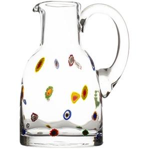 LEONARDO Krug  Millefiori ¦ transparent/klar ¦ Glas  ¦ Maße (cm): B: 18,5 H: 25 T: 15 Gläser & Karaffen  Karaffen, Krüge » Höffner