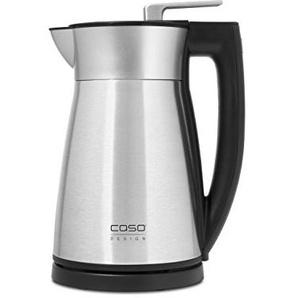 CASO VAKO2 - Design Edelstahl Wasserkocher mit doppelwandiger Vakuumisolierung für Wärmespeicherung wie bei einer Isolierkanne, max. 1.5 Liter