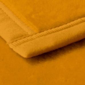 Biederlack Wohndecke »Uno Cotton«, 150x200 cm, gelb