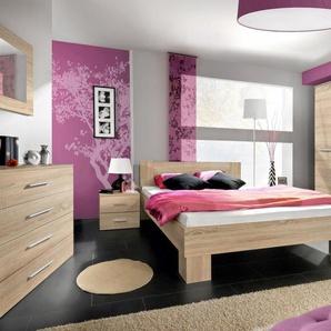 JUSTyou VICKA II 140 Schlafzimmerset Schlafzimmerkombination Schlafzimmer Komplett Sonoma Eiche