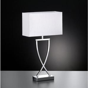 FISCHER & HONSEL Retrofit Tischlampe ANNI 51 Chrom/Weiß