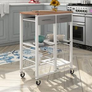 Kücheninsel Onda mit Edelstahlplatte