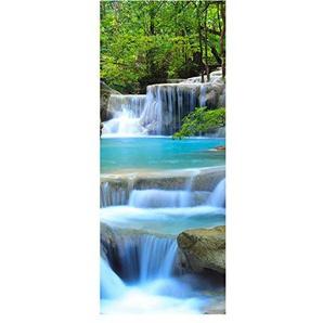 wandmotiv24 Türtapete Wasserfall im Wald Tapete Tür Türaufkleber Türbild Aufkleber 80 x 200cm (B x H) - Dekorfolie selbstklebend