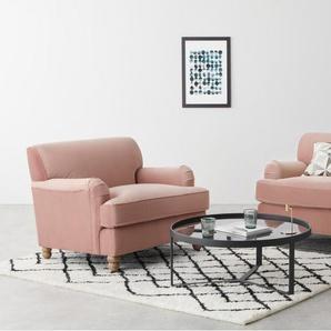 Orson 2-Sitzer Sofa, Samt in Vintage-Pink