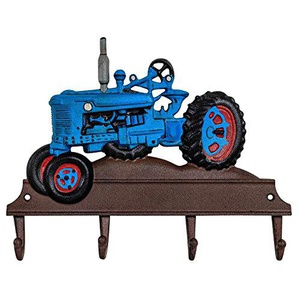 aubaho Kleiderhaken Wandgarderobe Garderobe Traktor Fahrzeug Eisen Antik-Stil 36cm