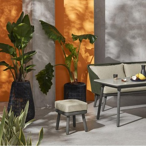 Alif Garten Essgruppe, Beton und Eukalyptus in Gruen und Grau