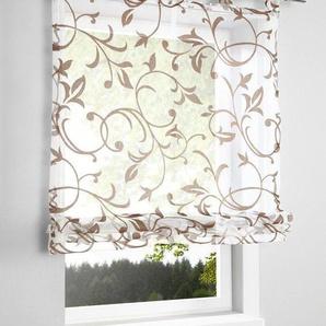Damen Raffrollo, braun, Gr. 140/100 cm, Home Wohnideen *, Material: Polyester, Baumwolle