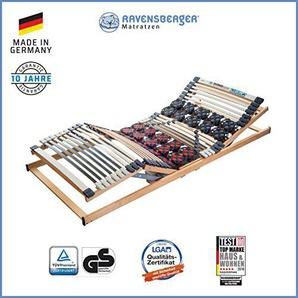 Ravensberger Matratzen® Duomed® Lattenrost | 7-Zonen-Buche-Teller-Lattenrahmen | Teller und Leisten| elektrisch| MADE IN GERMANY - 10 JAHRE GARANTIE | 90x190 cm