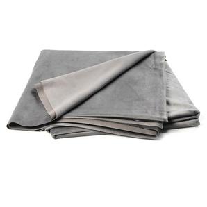 Samt-Dekostoff, L:300cm x B:150cm, grau