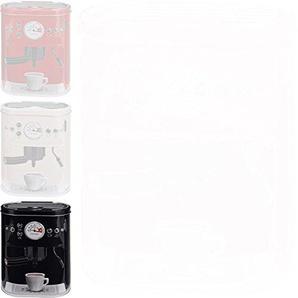 DRULINE 13 cm Kaffeedose Blechdose Vorratsdose Kaffeemaschine Kaffeevollautomat-Design Schwarz